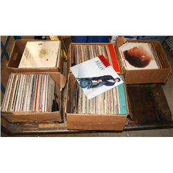 PALLET OF ASSORTED RECORDS, TROOPER, BREAD AND