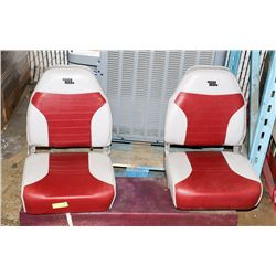 PAIR OF SWIVEL BOAT SEATS.