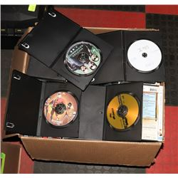 BOX OF 120 ASSORTED DVDS.