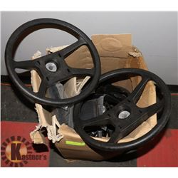 BOX OF NEW OLD STOCK BOAT STEERING WHEELS