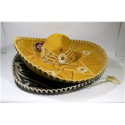 LOT OF 2 MEXICAN SOMBREROS