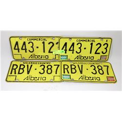 LOT OF ASSORTED LICENSE PLATES