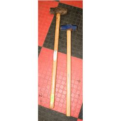 LOT OF 2 SLEDGE HAMMERS