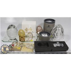 SWAROVSKI CRYSTALS & EGG COLLECTION INCL