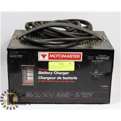 MOTOMASTER HEAVY DUTY BATTERY CHARGER.