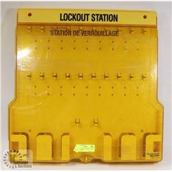 2 KEYS + PADLOCK CABINET LOCK OUT STATION