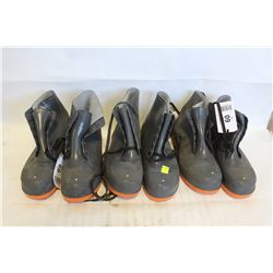 3 PAIRS OF ONGUARD STEEL TOE RUBBER ANKLE BOOTS
