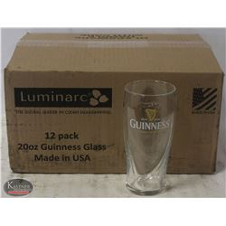 CASE(12) GUINNESS PINT GLASSES-NEW