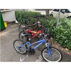 Ladies 18 Speed Mountain Bike & 2 Kid's Bikes