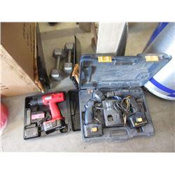 2 Dumbbells & Assorted Tools