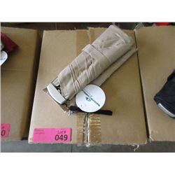 Case of 12 Beige Folding Umbrellas