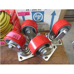 """Four 4"""" Swivel Casters"""