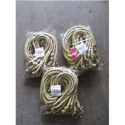 "3 Bundles of Twelve 42"" Bungee Cords"