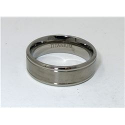 Man's Titanium Band Ring with 2 Grooves