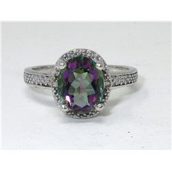 Mystic Topaz & Diamond Dinner Ring