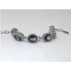 40 CTW Mystic Topaz Gemstone Bracelet