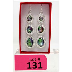 Brand New Rainbow Mystic Topaz Earrings