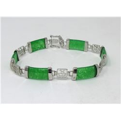 New Green Jade Gemstone Bracelet