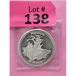 1 Oz. Johnson Matthey Silver Freedom Round
