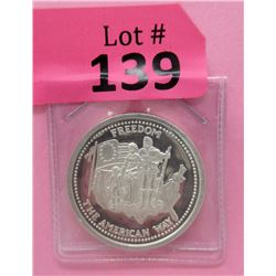 1 Oz. Johnson Matthey Silver 1985 Freedom Round