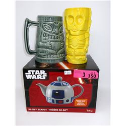Star Wars R2-D2 Tea Pot, C3PO Tiki Mug & more