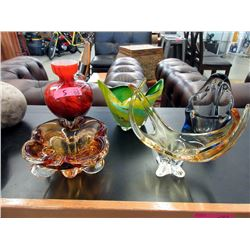 5 Pieces of Mid Century Art Glass