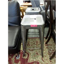 "Pair of 30"" Metal Stacking Stools - Store returns"