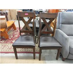 Pair of Brown Dining Chairs