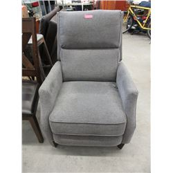 Grey Fabric Upholstered Manual Recliner