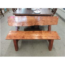 Handcrafted Live Edge Garden Bench