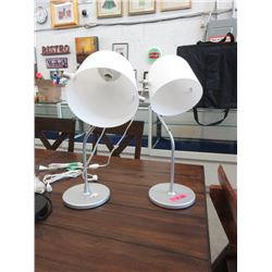 Pair of Adjustable Height Table Lamps