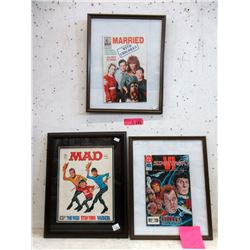3 Pressure Framed Collectable Comics