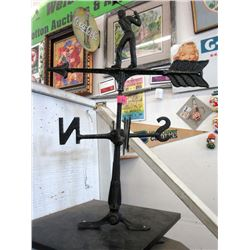 Cast Metal Golfer Weather Vane