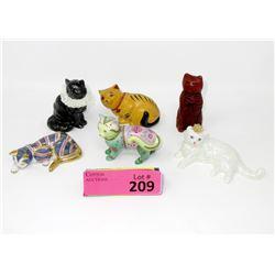 5 Rare Franklin Mint Curio Cabinet Cats