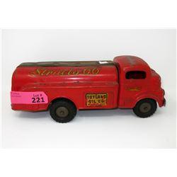 1950s Rare Wind-Up Toyland Oil Company Truck