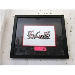 Richard Shorty Framed Print - Crow and Wolf