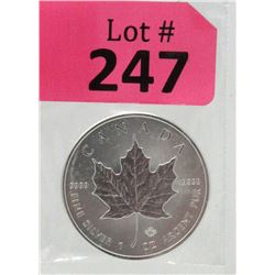 1Oz 2018 Canada .9999 Silver Maple LeafCoin