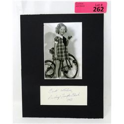 Authentic Autograph with Photo - Shirley Temple