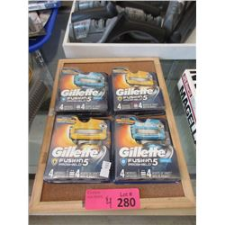 4 New Packs of Gillette Fusion 5 Proshield Blades
