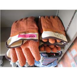6 New Pairs of Monkey Grip Work Gloves