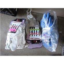 2 Bundles of New Work Gloves