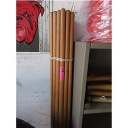 Bundle of 24 New 6 Foot Wood Extension Poles