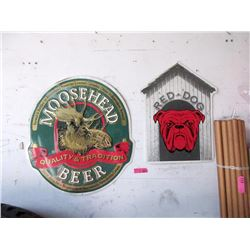 Moosehead Beer & Red Dog Tin Signs
