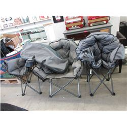3 Folding Camping Chairs - Store returns