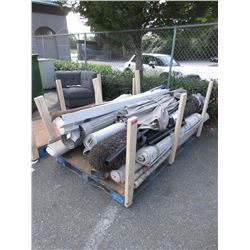Skid of Assorted Store Return Carpets & Blinds