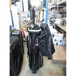 Assorted Golf Clubs in Bag