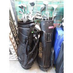 2 Sets of Assorted Golf Clubs in Bags