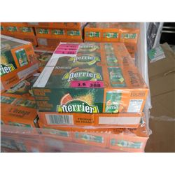 2 Flats of Perrier L'Orange Natural Mineral Water