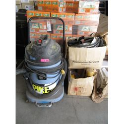 3 Box Lot -Tools & Large Shop Vac with Accessories