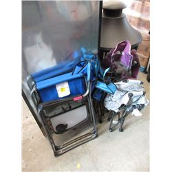 4 Folding Camp Chairs - Store Returns